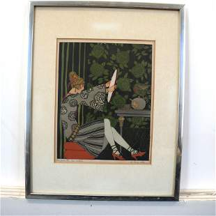 Possibly Paul Allers: Color Lithograph