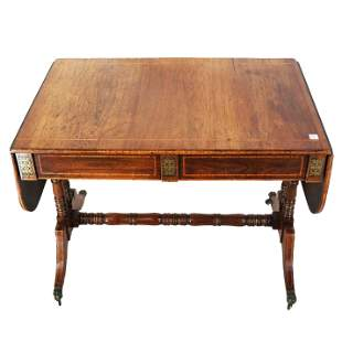 19th C. Regency Sofa Table
