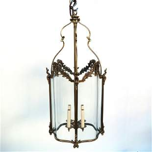 French Gilt Bronze Hall Lantern