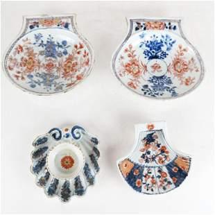 Four Chinese Export Imari Decorated Items