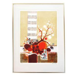 MENELLY: Abstract Still Life - Lithograph