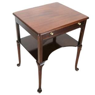 Mahogany Queen Anne-Style End Table