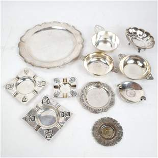 11 Sterling and .900 Silver Table Articles
