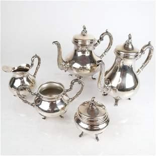 5-Pc. Peruvian .925 Silver Tea & Coffee Set