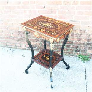 Renaissance Revival Ebonized Side Table