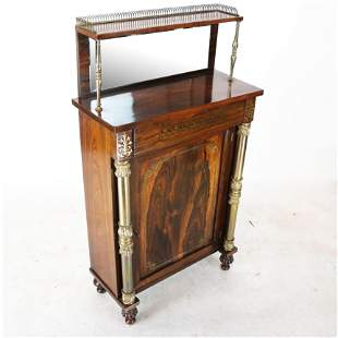 English Regency Rosewood Chiffonier 19th C