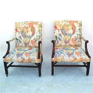 Pair George III Library Chairs