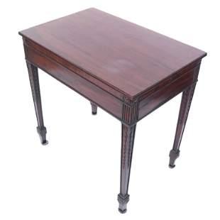 George III Mahogany Deception Table