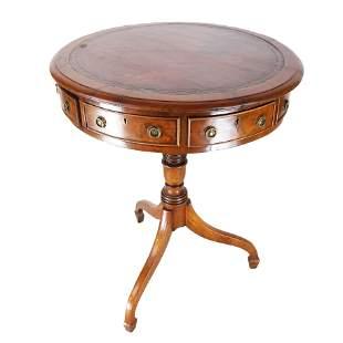 Regency Mahogany Small Drum Table