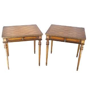 Pair Louis XVI-Style Side Tables