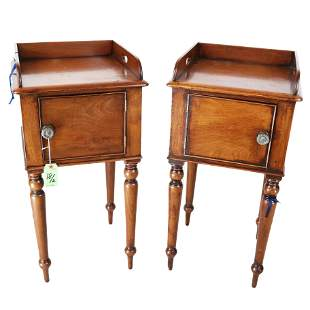 Pair of Victorian Mahogany Bedside Cupboards