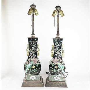 Pair of Chinese Kangxi Porcelain Vases