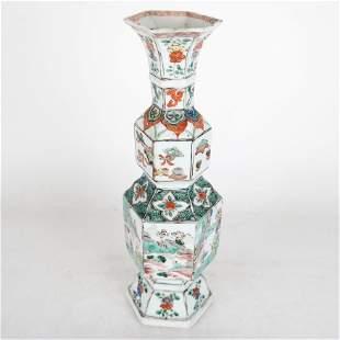 Chinese Kangxi Famille Verte Vase