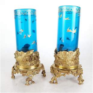 Pair of Baccarat Glass Vases