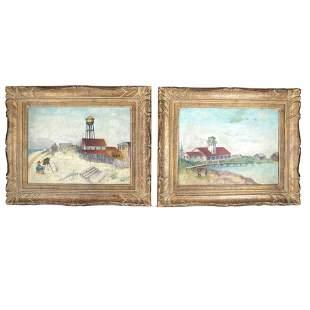 Alexander KRUSE: Pair Landscape Paintings