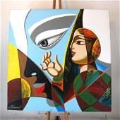 Misha BORISOFF: Mixed Media on Canvas