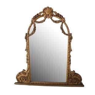 20th C. Vintage Gilt Wood Carved Dresser Mirror