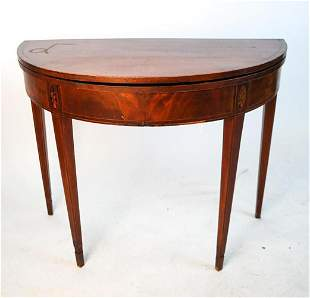 Mahogany Demilune Games Table