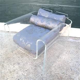 Modern Acrylic Armchair