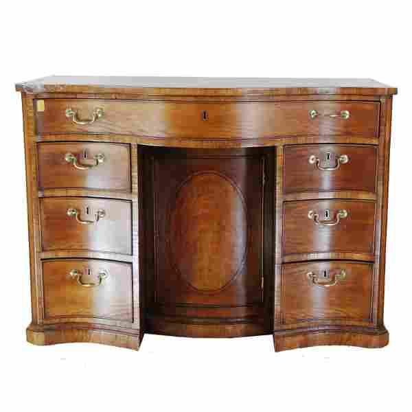 George III Bowfront Kneehole Desk