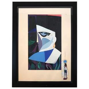 Rafael TUFINO: Abstract / Cubist Face - Serigraph