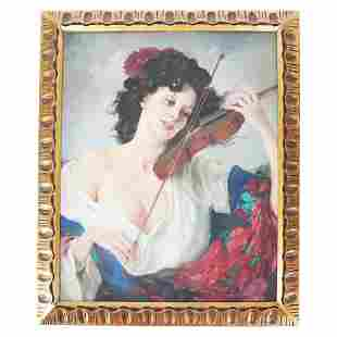 Maria SZANTHO: Gypsy Fiddler - Painting