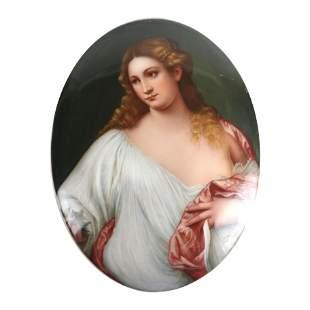 KPM Porcelain Plaque of Woman
