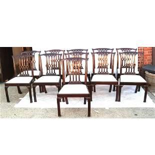 Set of 11 George III Mahogany Dining Chairs