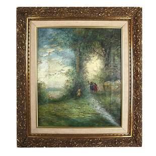 Vernon REDDOUR(?): Children Playing - Painting