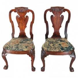 Pair Chinese Export Chairs, After Giles Grendey