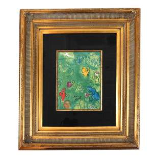 Marc CHAGALL: Figures in Green - Print