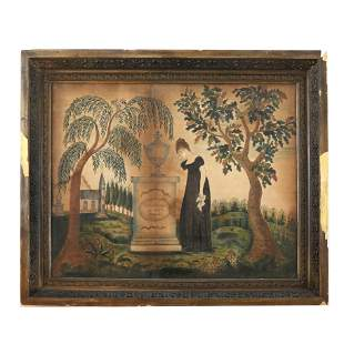 Antique American Painting on Velvet