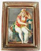 "Jon CORBINO: ""Girl in Circus.."" - Painting"