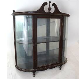 Queen Anne-Style Hanging Display Cabinet