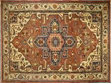 Antique Original Persian Heriz Serapi