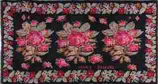 Antique Moldavian Kilim Carpet 10 x 5.25 FT