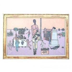 "Robert GWATHMEY: ""Father & Child"" - Oil Painting"