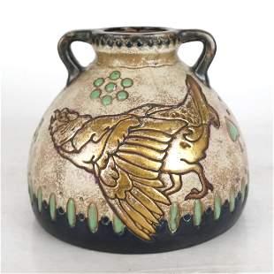 Art Nouveau Amphora, Austria Vase