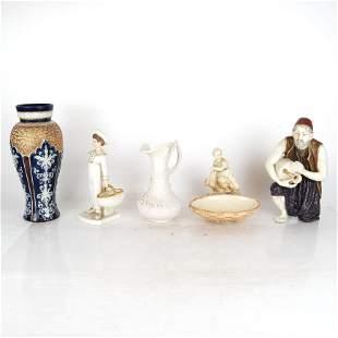 Five English Porcelain Articles