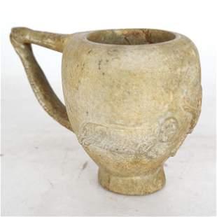 Archaic-Style Snake Handled Mug