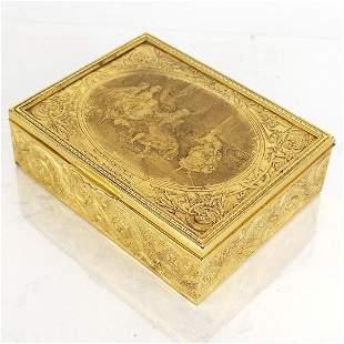 French Gilt Metal Table Box, 20th C.