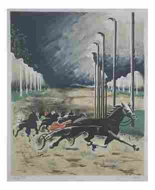 """Pierre Charles BAYLE: """"Trotters"""" - Lithograph"""