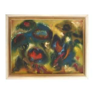 Fred BROSIUS: Blumen Der Nacht - W/C Painting