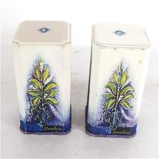 Pair Baccarat Crystal Guerlain Perfume Bottles