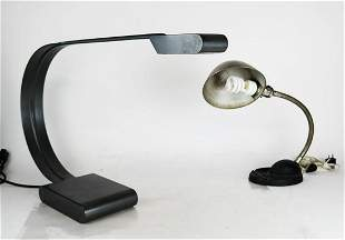 Two Industrial Desk Lamps