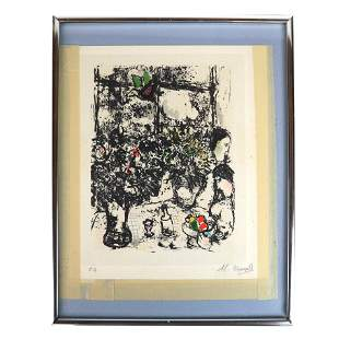 Attrib. Marc CHAGALL: Figures in Kitchen - Litho