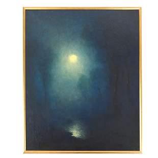 Karl Emil TERMOHLEN: Moonlight - Oil Painting
