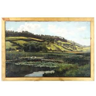 R. CLARKSON: 19th C. Landscape - Oil Painting