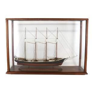 Ships Model in Display Case