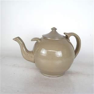 19th C. Drabware Teapot